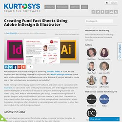 Creating Fund Fact Sheets using Adobe InDesign & Illustrator