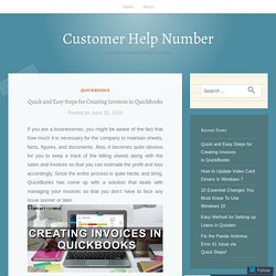 Quick and Easy Steps for Creating Invoices in QuickBooks