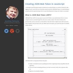 Creating JSON Web Token in JavaScript - Jonathan Petitcolas