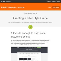 Creating a Killer Style Guide