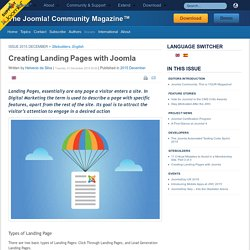 Creating Landing Pages with Joomla