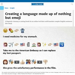 Creating a language made up of nothing but emoji