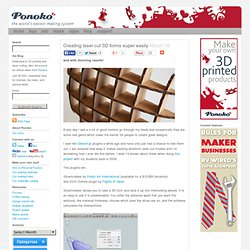Creating laser cut 3D forms super easily & Ponoko - Blog