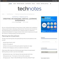 Creating an Amazing Virtual Learning Experience