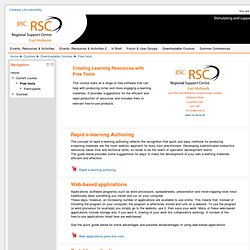 Creating e-learning resources with free tools: Jisc RSC East Midlands Moodle 2