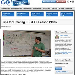 Tips for Creating ESL/EFL Lesson Plans