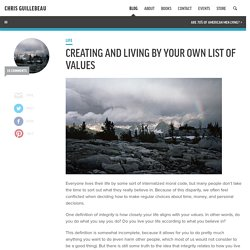 Creating and Living by Your Own List of Values : The Art of Non-Conformity