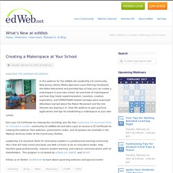 Creating a Makerspace at Your School