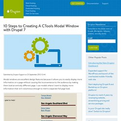 10 Steps to Creating A CTools Modal Window with Drupal 7