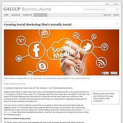 Gallup: Creating Social Marketing That's Actually Social