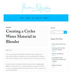 Creating a Cycles Water Material in Blender » Matthew Lindley