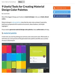 9 Tools for Creating Material Design Color Palettes
