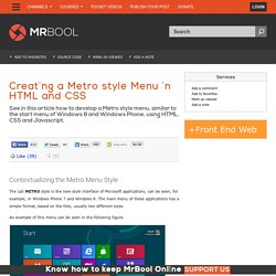 Creating a Metro style Menu in HTML and CSS