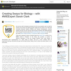 Creating Sways for Biology – with #MIEExpert Sarah Clark – Microsoft UK Schools blog