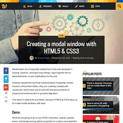 Creating a modal window with HTML5 & CSS3