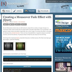 Creating a Mouseover Fade Effect with jQuery