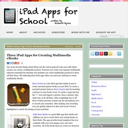 Three iPad Apps for Creating Multimedia eBooks