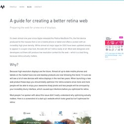 A guide for creating a better retina web - Ivo Mynttinen / User Interface Designer