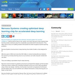 Nervana Systems creating optimized deep learning chip for accelerated deep learning