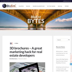 Creating outstanding 3D brochures with BluEnt