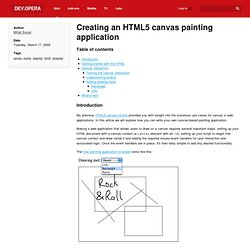 Creating an HTML 5 canvas painting application - Opera Developer