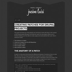 Creating Patches for Drupal Projects - Jacine Luisi