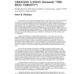 CREATING A PATSY (formerly THE REAL TARGET)