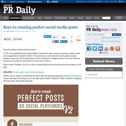 The Secrets to Creating Perfect Social-Media Posts