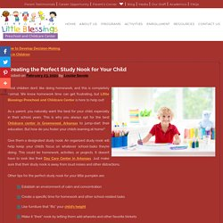 Creating the Perfect Study Nook for Your Child