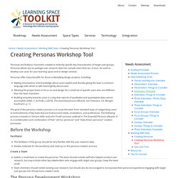 Creating Personas Workshop Tool
