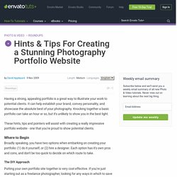 Hints & Tips For Creating a Stunning Photography Portfolio Website