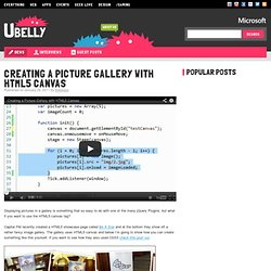 Creating a picture gallery with HTML5 canvas - Ubelly