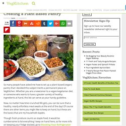 Creating a Vegan Pantry