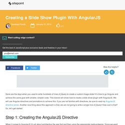 Creating a Slide Show Plugin With AngularJS