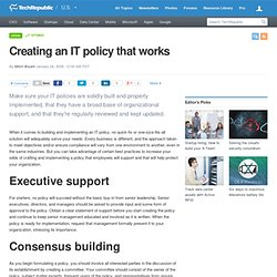 Creating an IT policy that works