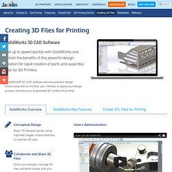 Creating 3D Files for Printing - 3D Printer