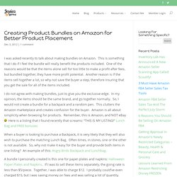 Creating Product Bundles on Amazon for Better Product Placement
