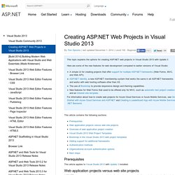 Creating ASP.NET Web Projects in Visual Studio 2013