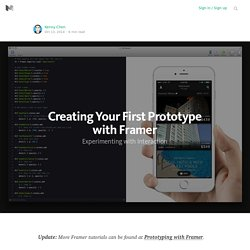 Creating Your First Prototype with Framer
