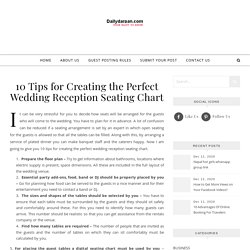 10 Tips for Creating the Perfect Wedding Reception Seating Chart - Reliable platform for guest post