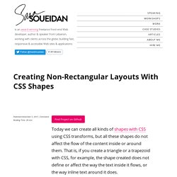Creating Non-Rectangular Layouts With CSS Shapes