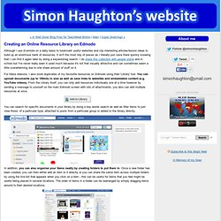 Creating an Online Resource Library on Edmodo - Simon Haughton's Blog