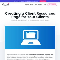 Creating a Client Resources Page for Your Clients