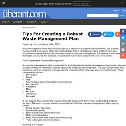 Tips For Creating a Robust Waste Management Plan