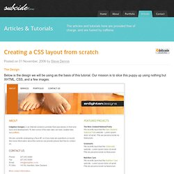 Creating a CSS layout from scratch - Subcide