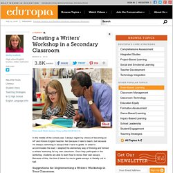 Creating a Writers' Workshop in a Secondary Classroom