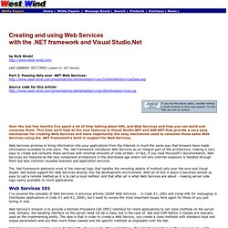 Creating Web Services with .Net and Visual Studio