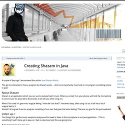 Creating Shazam in Java