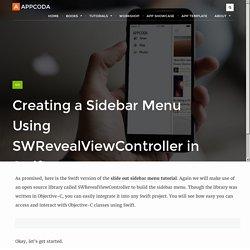 Creating a Sidebar Menu in iOS Apps Using Swift