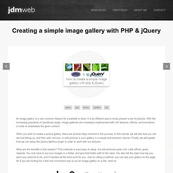 Creating a simple image gallery with PHP & jQuery